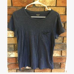 Madewell Scoop Neck Front Pocket Basic T-Shirt
